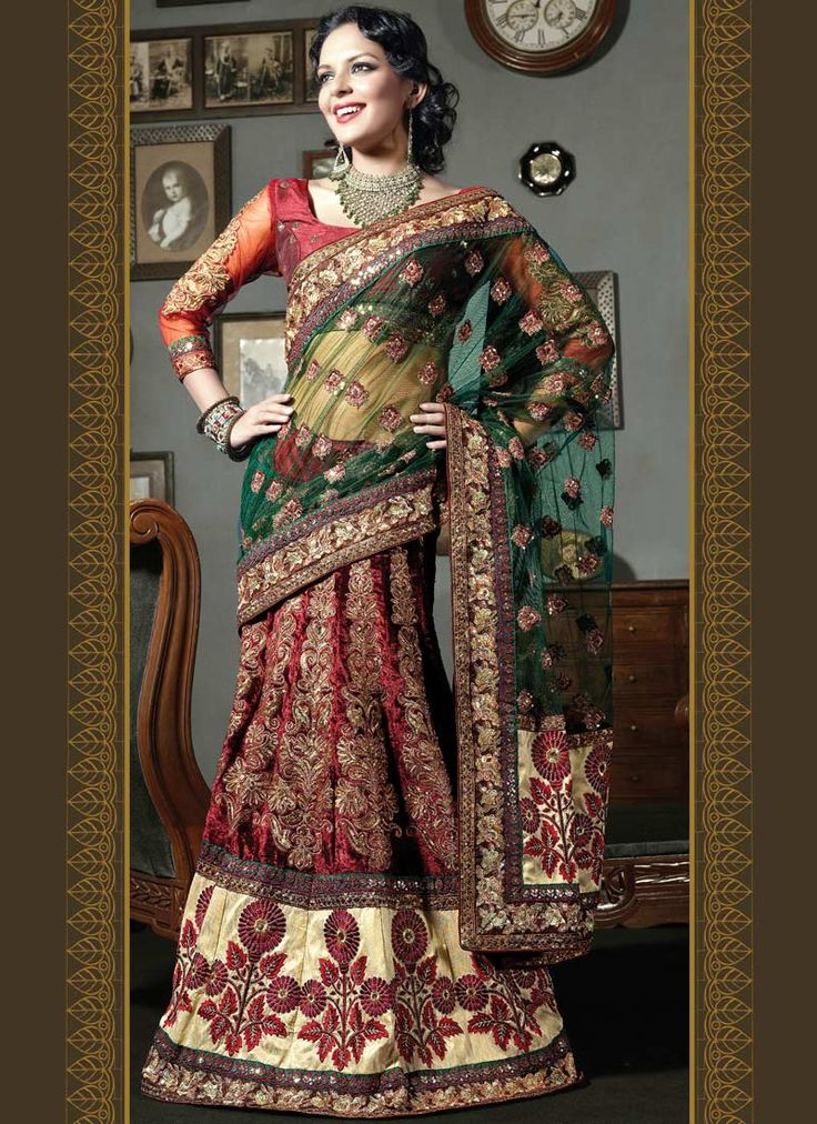 Designer Lehenga Sari's & Sari's Collection 2014-15 For Women
