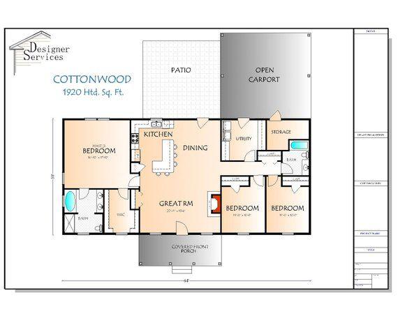The Cottonwood Way Plan Custom Home Plans House Plans Floor Plans