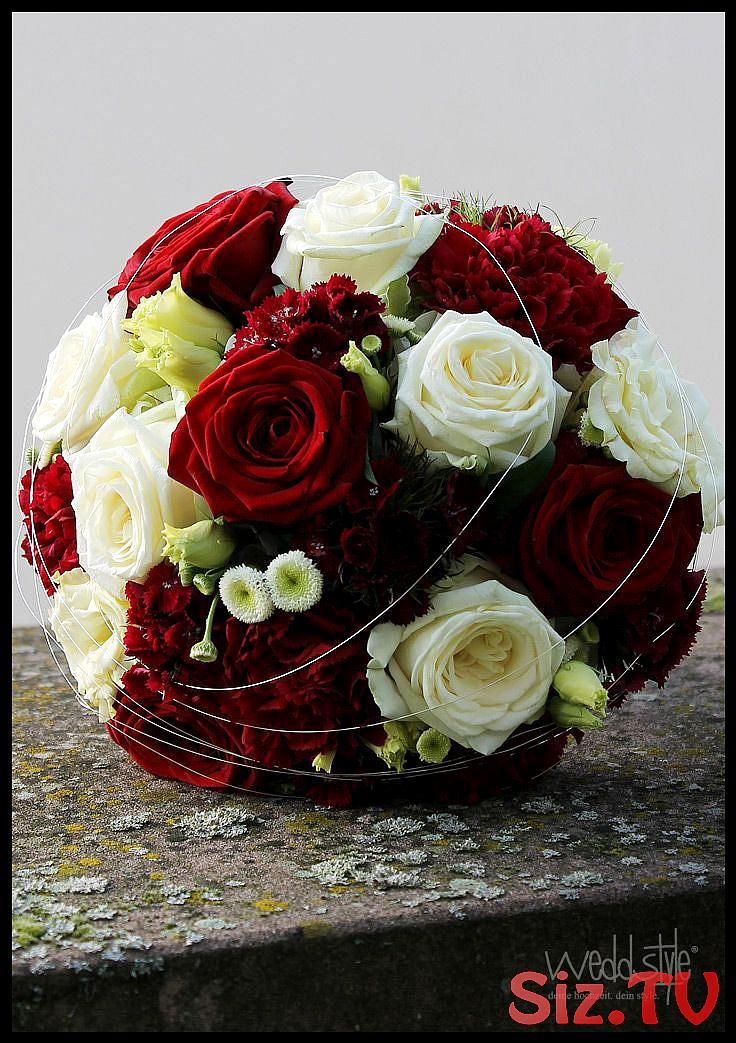 Bridal bouquet with red and white roses floristry by weddstyle ww #Brautst …  – Hochzeit