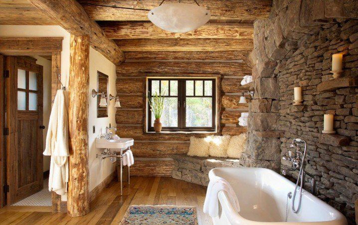 Μπάνια από πέτρα -Για ρουστίκ στιλ