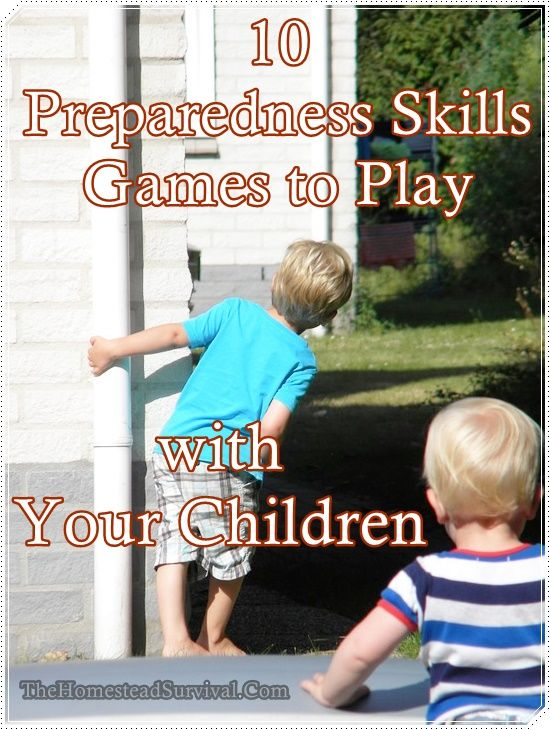 10 Preparedness Skills Games to Play with Your Children