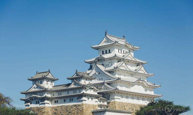 Vue du Chateau d'Himeji, au Japon. blanc et divin !