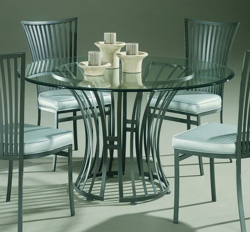 Genesis Round Contemporary Glass Dining Table By Johnston
