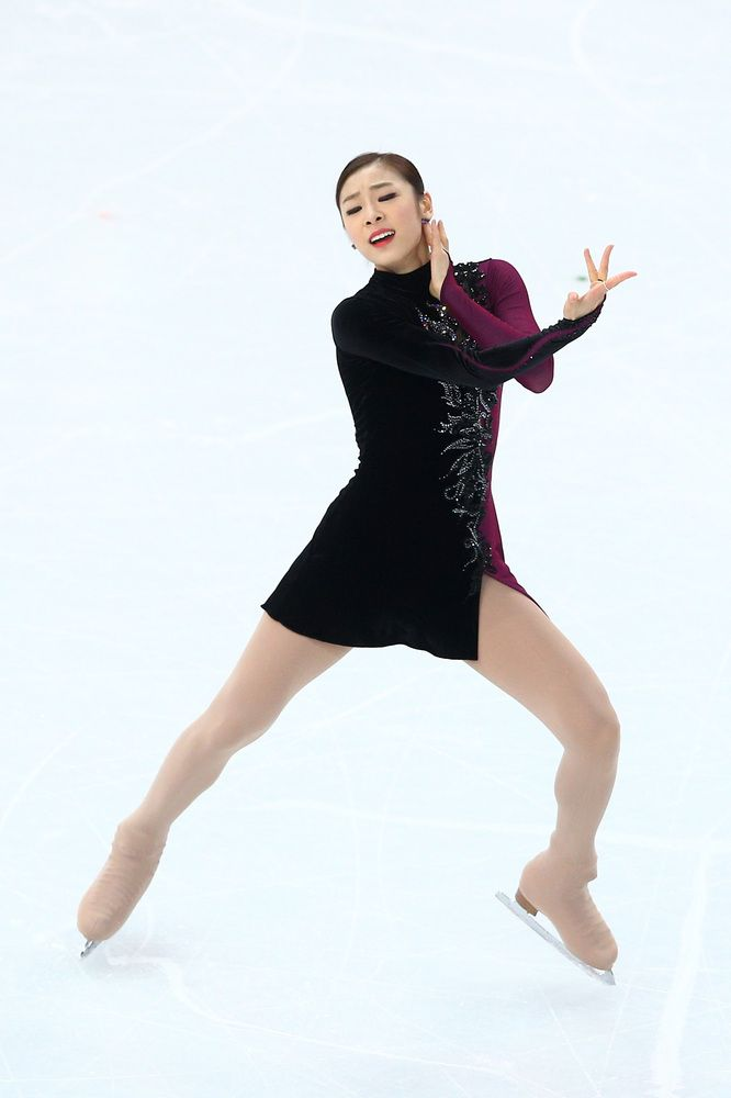She is an actress. SOCHI, RUSSIA - FEBRUARY 20: Yuna Kim of South Korea competes in the Figure Skating Ladies' Free Skating on day 13 of the Sochi 2014 Winter Olympics at Iceberg Skating Palace on February 20, 2014 in Sochi, Russia. (Photo by Paul Gilham/Getty Images)