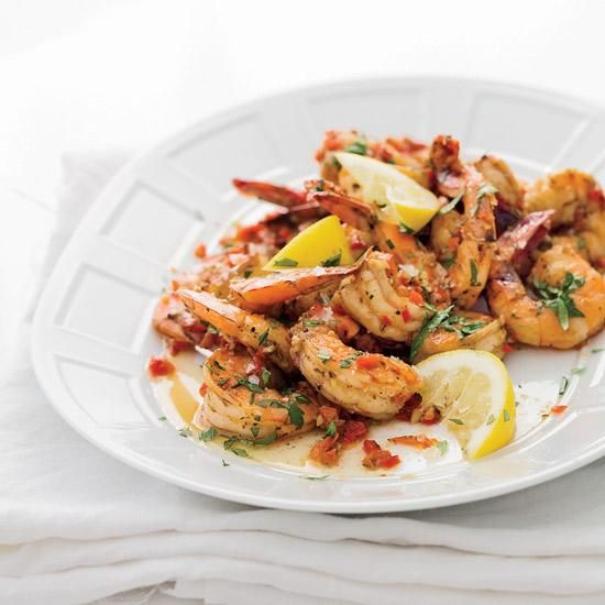 "Creole Shrimp with Garlic and Lemon | Eco-minded chefs are cooking with wild American shrimp, but not just for ethical reasons. As Tory McPhail of Commander's Palace in New Orleans says, ""They taste cleaner and crisper, since they swim in the tides."""