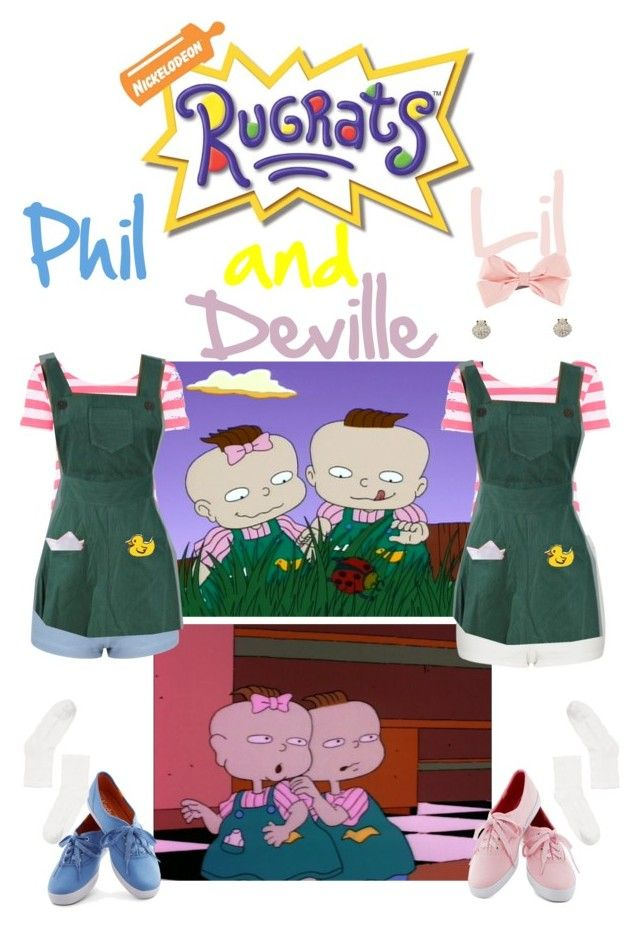 """Rugrats-Phil and Lil Deville"" by blessingfan13 ❤ liked on Polyvore"