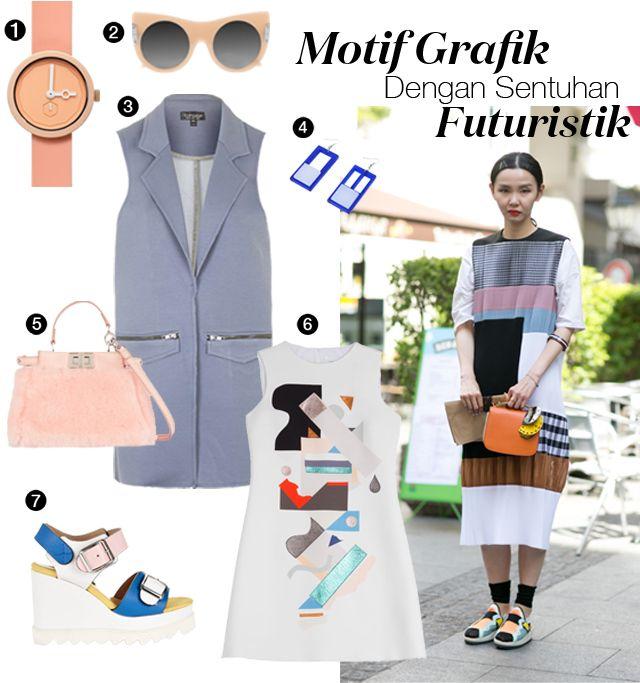 Motif Grafik Dengan Sentuhan Futuristik | Style.com Indonesia