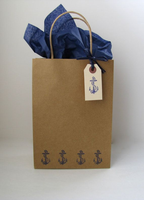 Anchor's Away Gift bags Anchor gift bags by KiwiTiniCreations