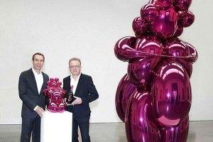Exposition dédiée à la collaboration de Jeff Koons et Dom Pérignon