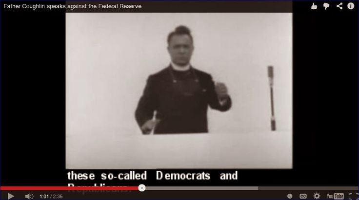Charleston Voice: Father Coughlin speaks against the Federal Reserve, 1936 *vid*