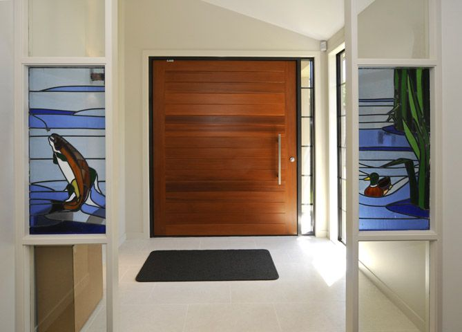 stained glass windows can be incorporated into renovations