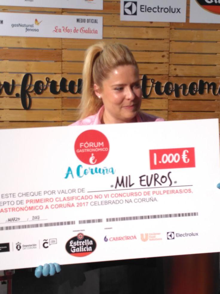 Vanessa Ferreiro, mejor pulpeira de Galicia. Premio otorgado por el jurado del #forumgastronomicoCoruña 2017