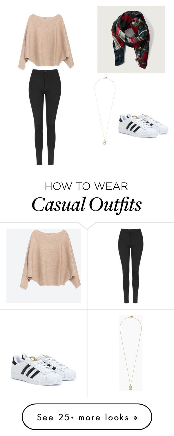 """CASUAL"" by melkimi on Polyvore featuring Topshop, Zara, Abercrombie & Fitch, adidas and Kate Spade"