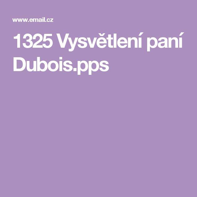 1325 Vysvětlení paní Dubois.pps