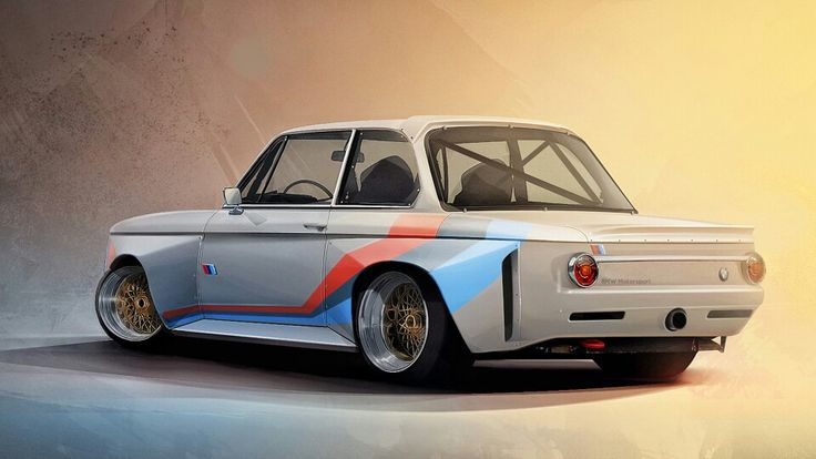 BMW 2002 Roundie on Steroids. I REPINNED THIS ONE BECAUSE OF THE BLENDING OF…