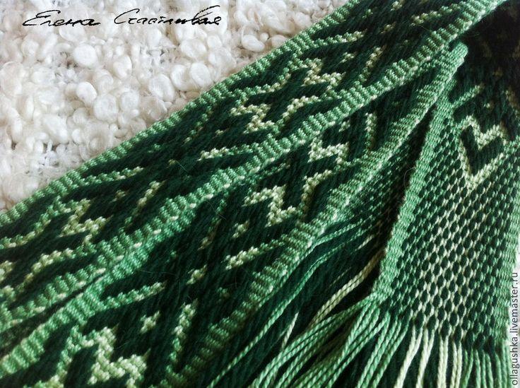 """Купить Тканый пояс """"Дубрава"""" - русский костюм, родноверие, язычество, традиционный костюм, традиционный пояс"""