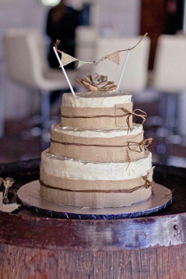 Rustic DIY Wedding South Africa Rustic Cake http://www.ernaloock.com/