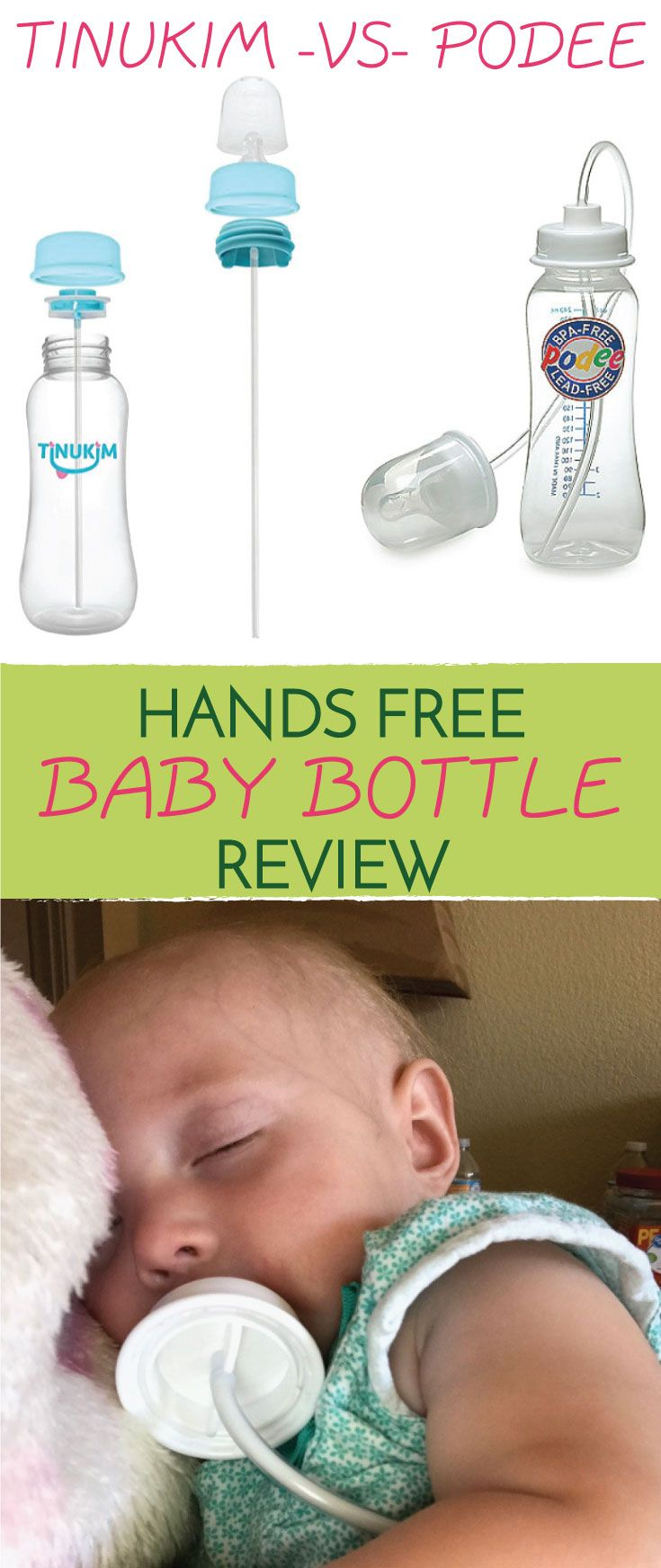 Handy-dandy #handsfree #babybottles were products that I wish I had found when we had our first daughter as she was very fussy in the car and a terrible sleeper. I have tried both the Tinukim Hands Free Baby Bottle – Anti-Colic Nursing System and the Podee Hands-Free Baby Bottle Feeding System and hands down have decided which one is the better product!