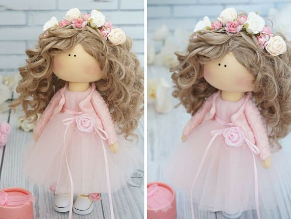Poupée FREE Shipping Art Doll Puppen Gift for Her Rag Doll