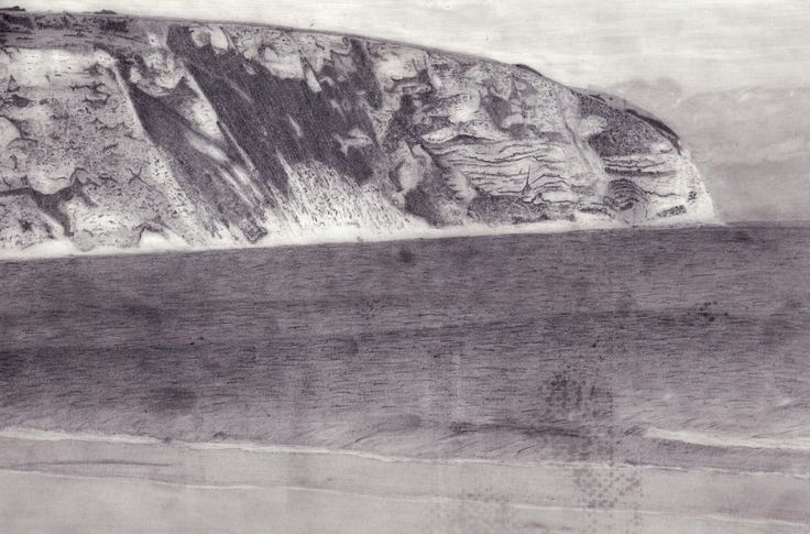 My pencil drawing of durlston head swanage