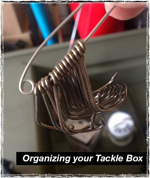Cleaning out your Tackle Box: How a couple safety pins can instantly improve the chaos inside your tackle box....