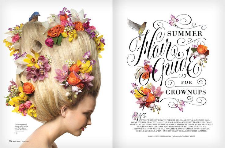 Summer Hair Guide   Jessica Hische: Summer Hair, Typography Annual, Graphics Design, Geof Kern, Art Magazines, Hair Guide, Flower, Annual 2013, Jessica Hische
