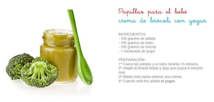 Crema de brocoli con yogurt