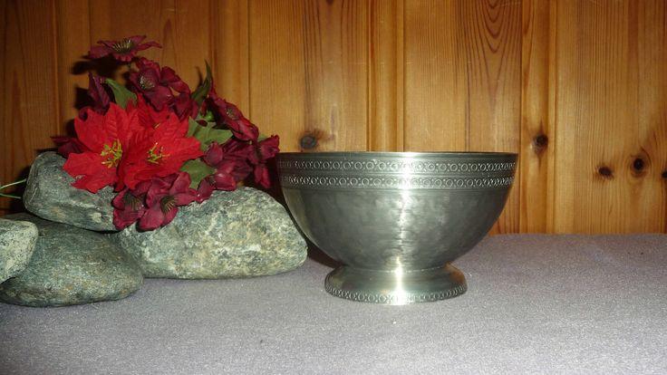 Antique Norwegian Pewter Pedestal Bowl Drangsgaard Norway Tinn Tureen Viking Vintage Scandinavian Centerpiece Fruit Dish by Grandchildattic on Etsy
