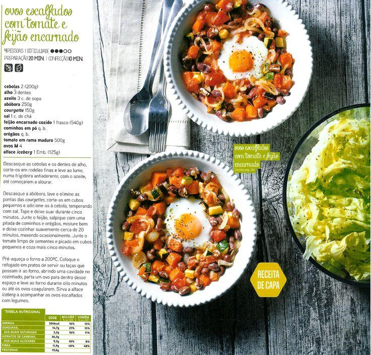 Ovos escalfados com tomate e feijão encarnado Sabe bem faz bem! - Revista Pingo Doce setembro/outubro 2014