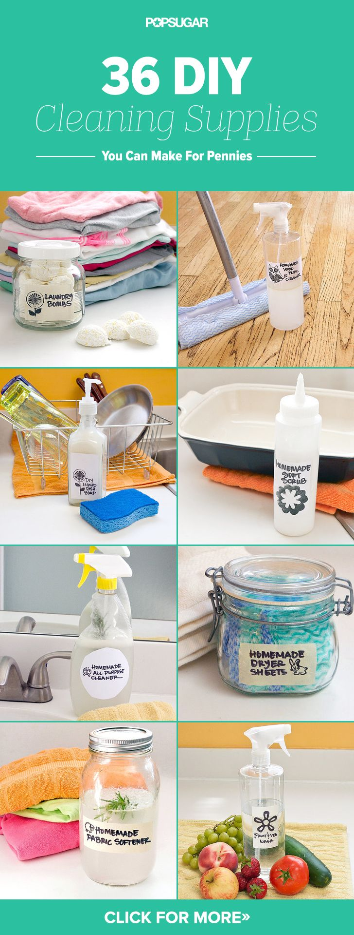 Make These 36 DIY Cleaning Products For Pennies
