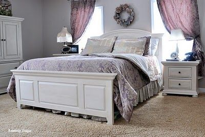 White repainted bedroom furniture