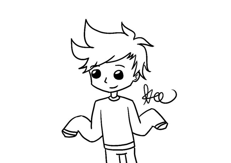 Keegan in baggy sweater~ Created by Keegan #sketch #digital #artwork #blacknwhite #boy