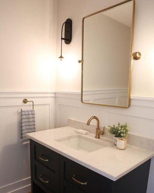 Vintage Pivot Mirror Guest Bathrooms Bathroom Wallpaper