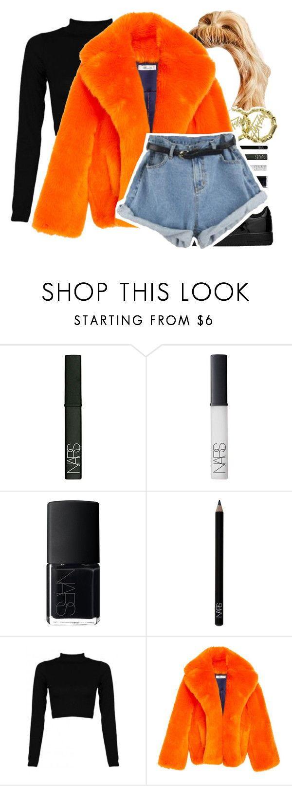 """""""G O O S E B U M P S"""" by girimadboy ❤ liked on Polyvore featuring NARS Cosmetics, Stussy and NIKE"""