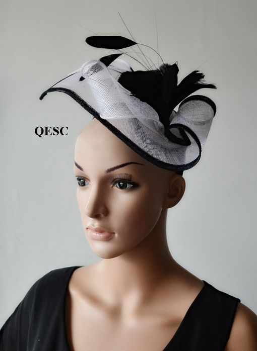 Cheap fascinator black, Buy Quality fascinators for the races directly from China hat Suppliers: HOT and SPECIAL SHAPE sinamay fascinator with feather flower 1. style no.:QF097 2.Material:sinamay 3.with satin head