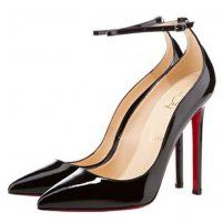 New Christian Louboutin Halte 120 Pointed Toe Pumps Patent Black, Shopping Cheap Louboutins Outlet Sale.