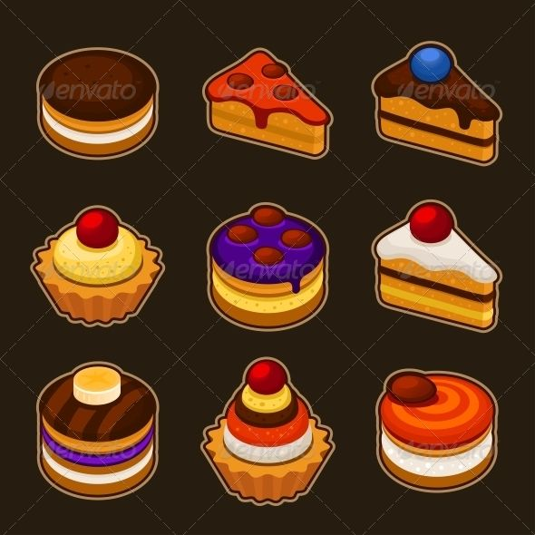 Set of Cupcakes Icons  #GraphicRiver         Vintage cupcakes     Created: 28May13 GraphicsFilesIncluded: JPGImage #VectorEPS #AIIllustrator Layered: No MinimumAdobeCSVersion: CS Tags: background #baked #bakery #birthday #cake #chocolate #collection #cream #cup #cupcake #decorated #decoration #delicious #dessert #flower #food #frosting #fruit #gourmet #icing #illustration #isolated #party #set #strawberry #sugar #sweet #various #vector #wedding