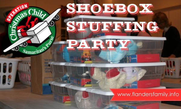 How to host a shoebox stuffing party   with free printables from www.flandersfamily.info