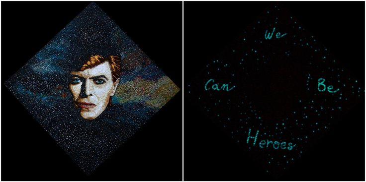 https://flic.kr/p/EVnuT8 | Starman * Tribute to David Bowie / Mosaic | Starman * Triute to David Bowie / Mosaico artistico / stained glass on wood / vetro fotoluminescente / 2016 / particolare luce e notte  /El.P Elena Prosperi / M.us.E mosaico