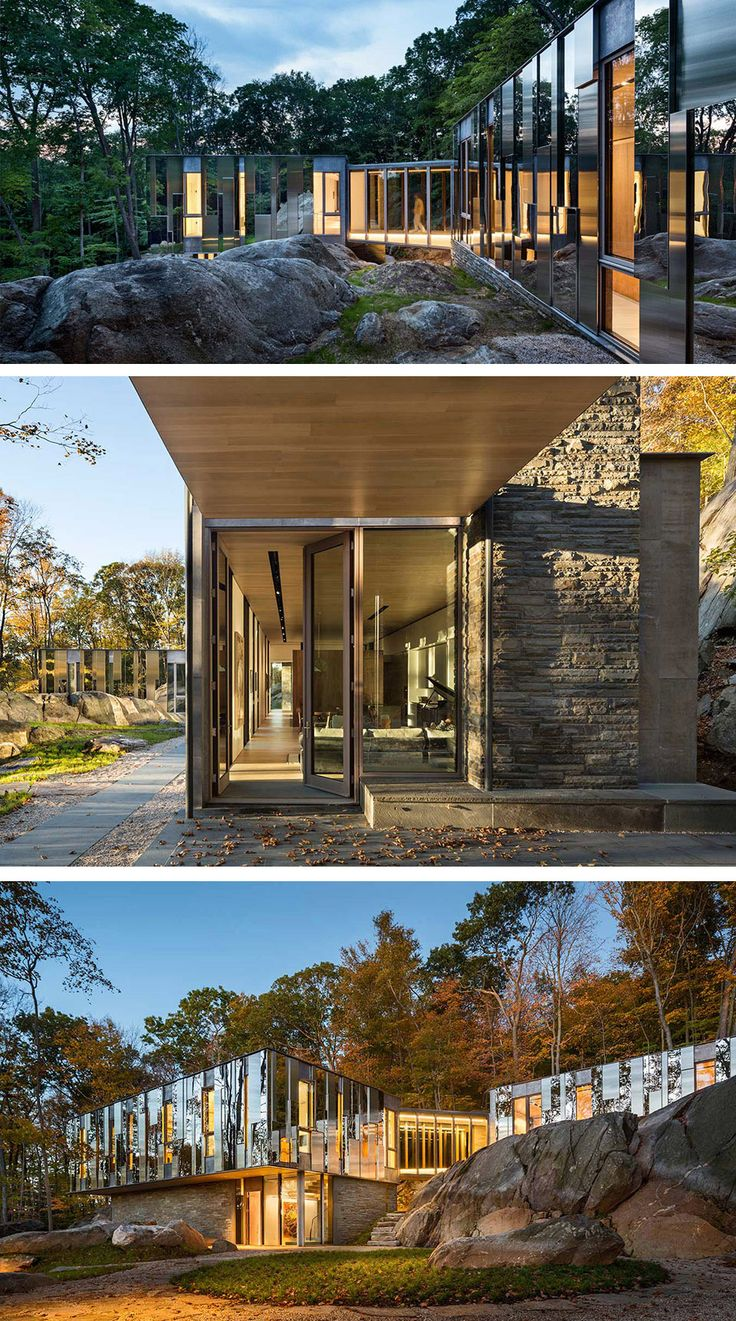Pound Ridge House in New York by Kieran Timberlake architecture.