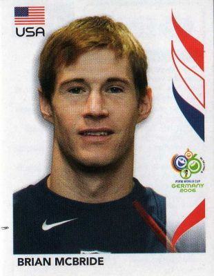 Brian McBride of USA. 2006 World Cup Finals card.