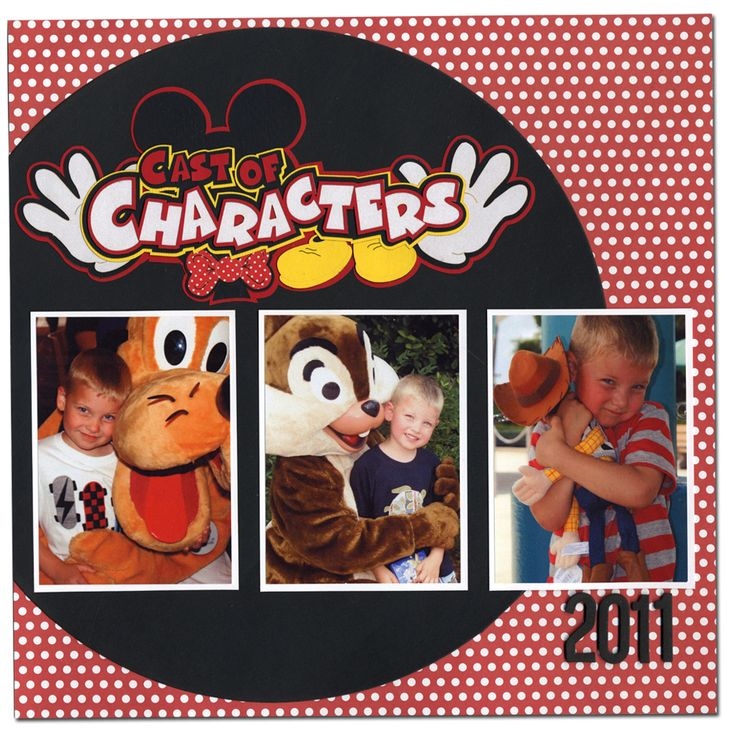 NL Disney Characters Laser Title Layout: Scrapbook Ideas, Scrapbook Layouts, Layout Idea, Disneyscrapbooking, Scrapbook Pages, Disney Characters
