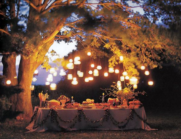 Summer Night Party With Lights Party Ideas Pinterest