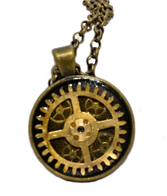 Steampunk / Timelord inspired Round Pendant by thelongwayround