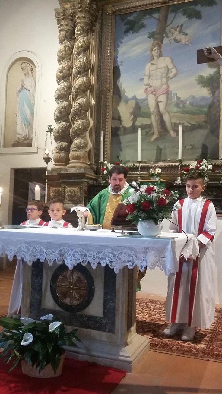 Piena attivita' per don Roberto Crisogianni il nuovo parroco di Vallo di Nera