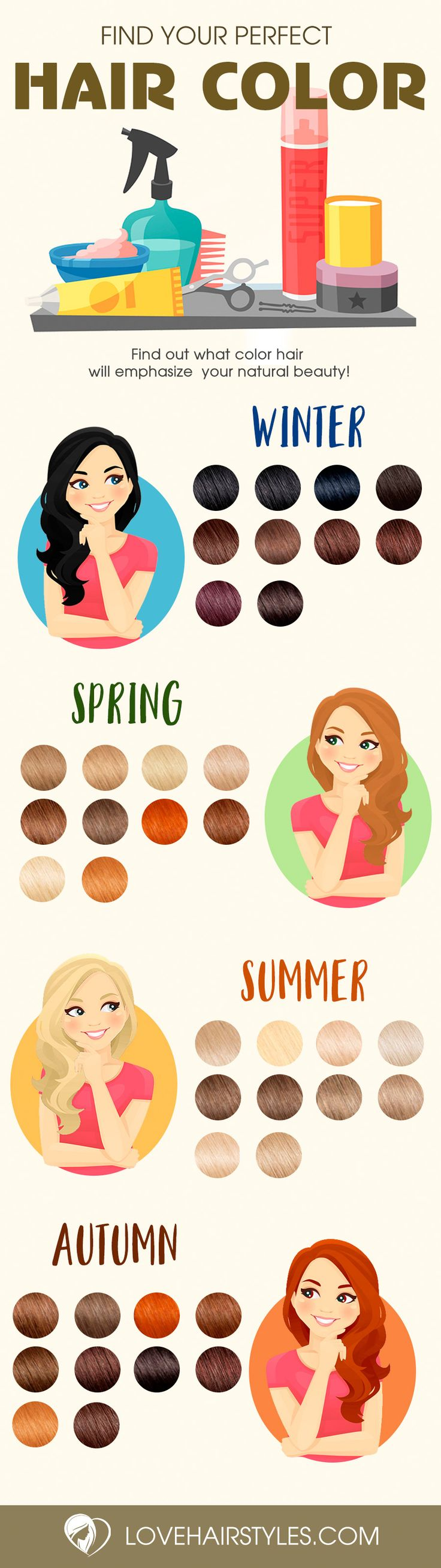 Trendy Hair Colors for Every Season 2017