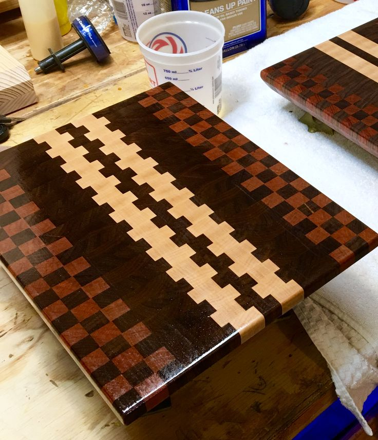 End grain cutting boards with build video. DIY. Click both links in the website for cutting boards for step by step build pics.
