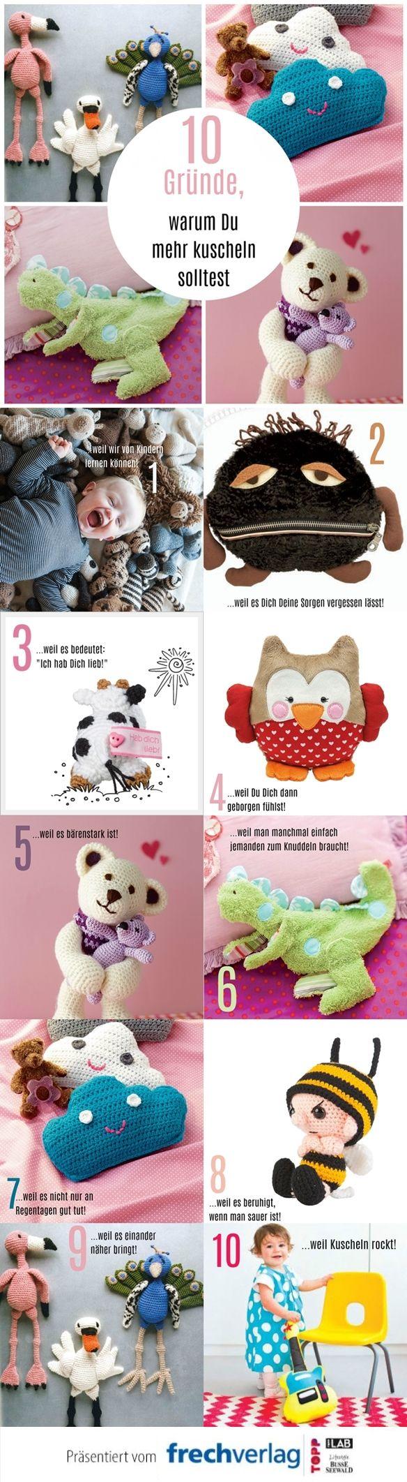 Kuschelalarm! Mit diesen tollen Plüschfreunden bereitest Du nicht nur Kindern eine Freude!  Noch mehr Inspiration findest Du auf www.topp-kreativ.de