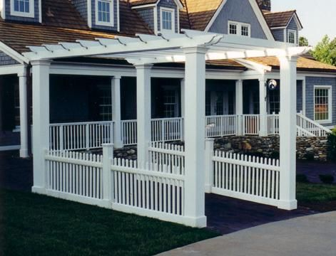 12 best pergola walkway images on pinterest backyard for Carport landscaping ideas