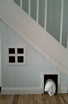 rabbit house under the stairs